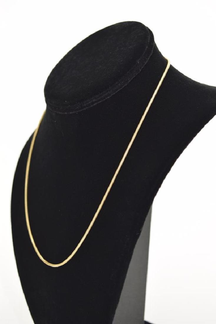 14K GOLD BALESTRA ITALY SNAKE CHAIN NECKLACE - 9