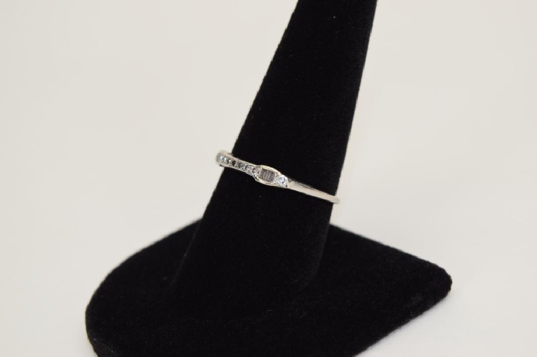 ALMOST ANTIQUE GRANAT BROS PLATINUM DIAMOND RING - 10