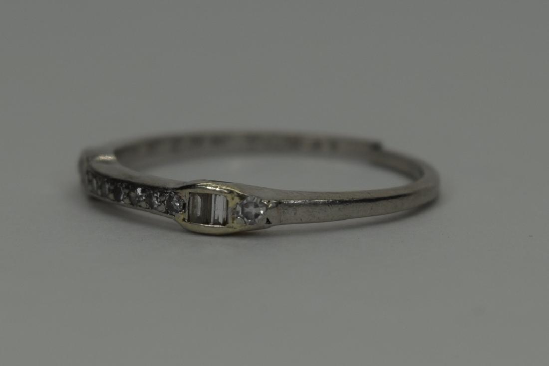 ALMOST ANTIQUE GRANAT BROS PLATINUM DIAMOND RING - 2
