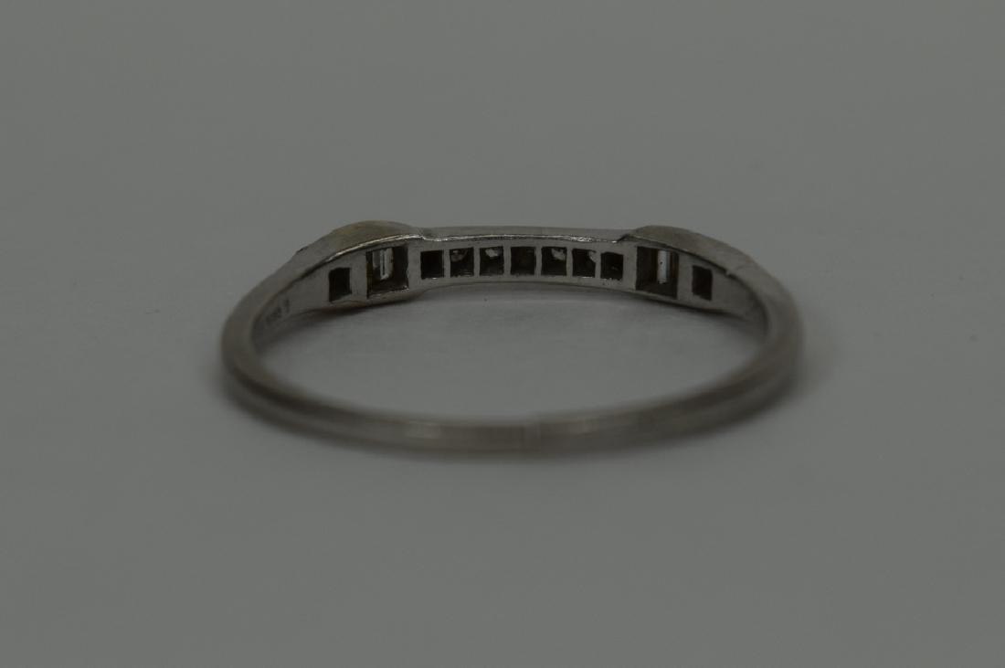 ALMOST ANTIQUE GRANAT BROS PLATINUM DIAMOND RING - 3