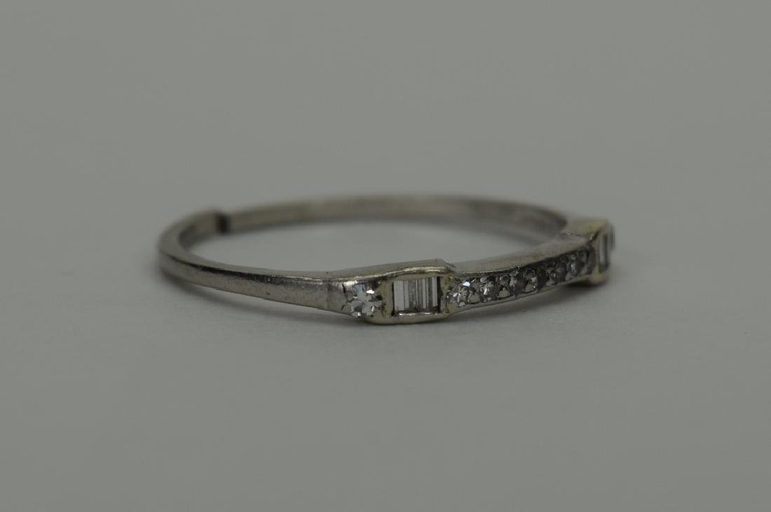 ALMOST ANTIQUE GRANAT BROS PLATINUM DIAMOND RING - 4