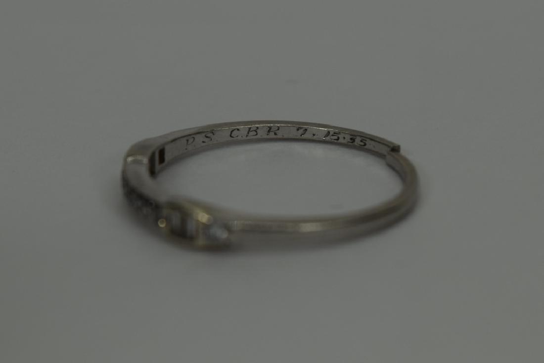 ALMOST ANTIQUE GRANAT BROS PLATINUM DIAMOND RING - 6