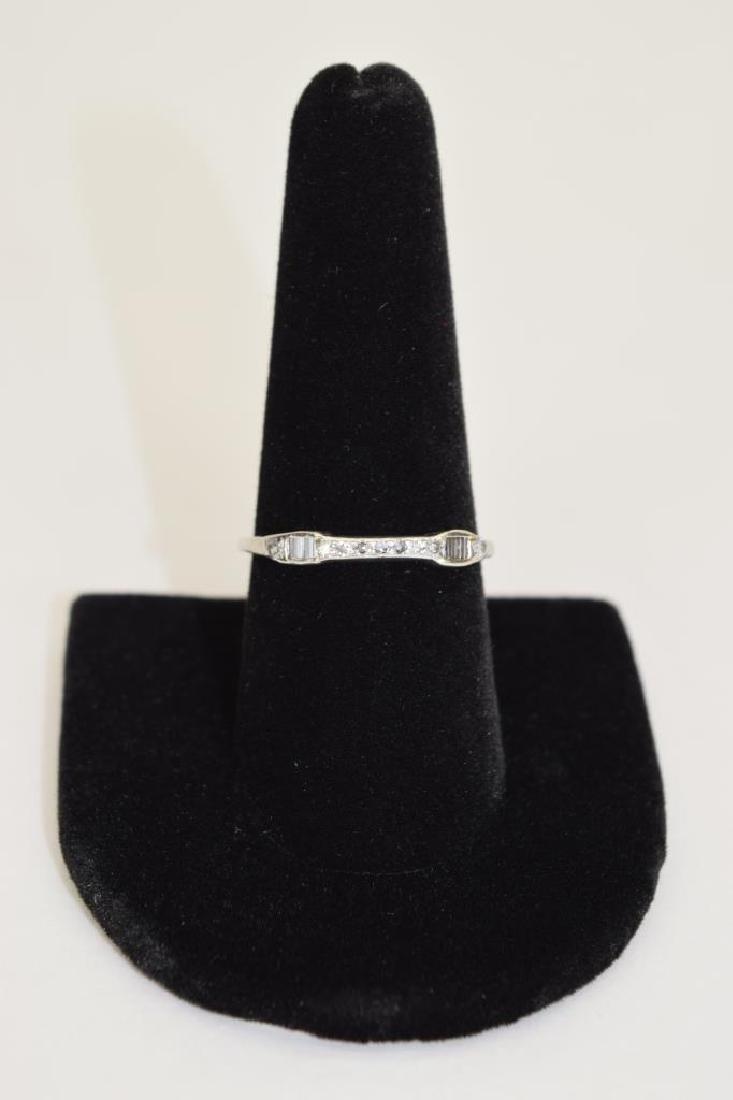 ALMOST ANTIQUE GRANAT BROS PLATINUM DIAMOND RING - 8