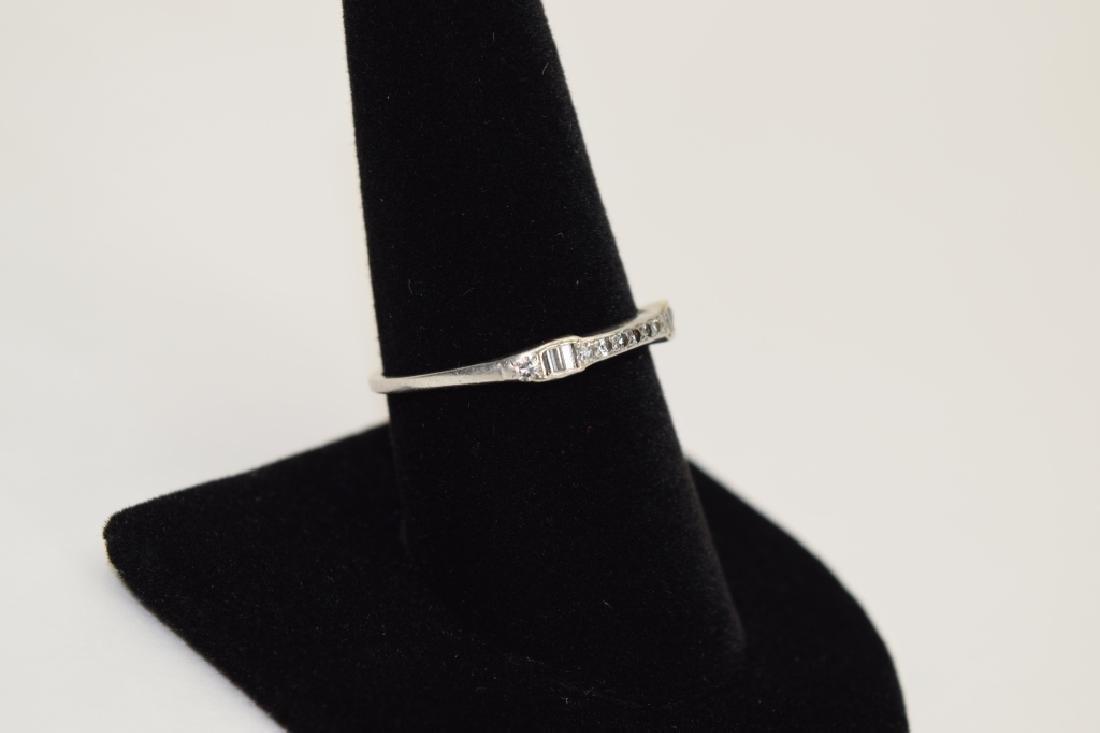 ALMOST ANTIQUE GRANAT BROS PLATINUM DIAMOND RING - 9