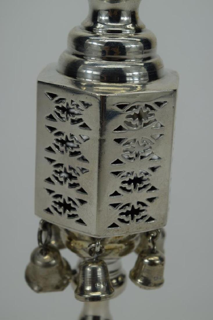 ENGLISH 925 STERLING SILVER JUDAICA SPICE TOWER 2 - 10