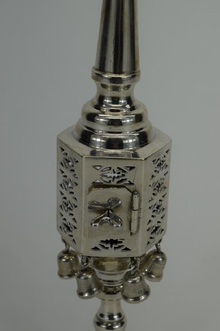 ENGLISH 925 STERLING SILVER JUDAICA SPICE TOWER 2 - 6