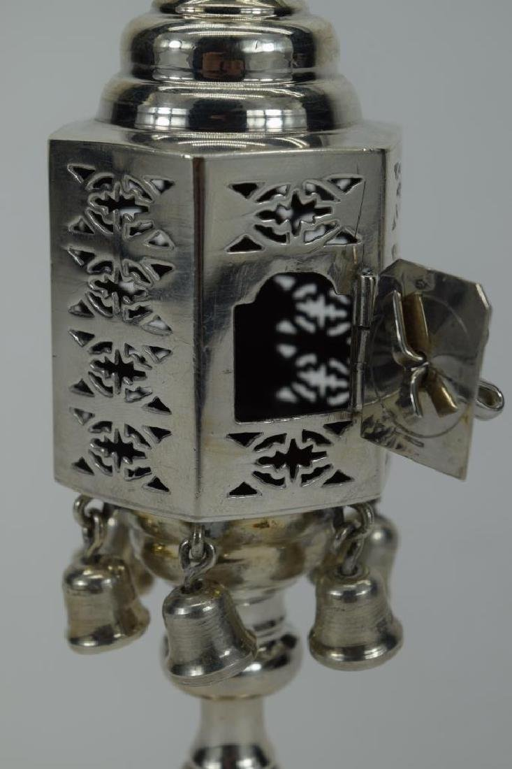ENGLISH 925 STERLING SILVER JUDAICA SPICE TOWER 2 - 9
