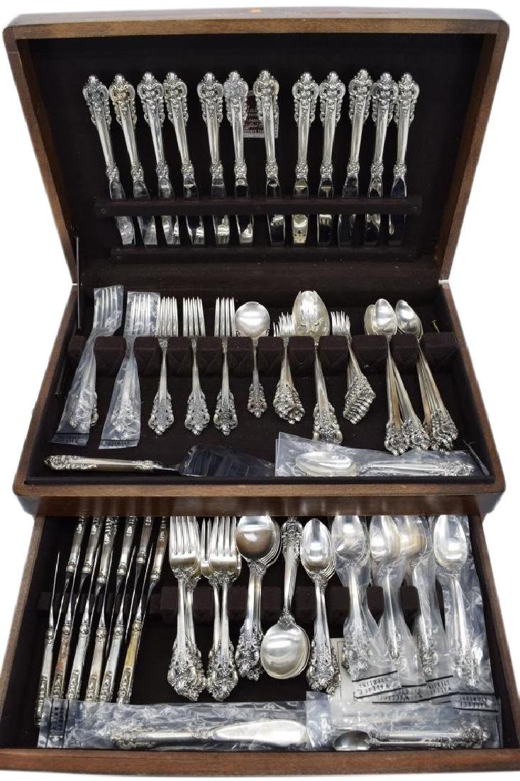 121PCS WALLACE GRANDE BAROQUE STERLING SILVER