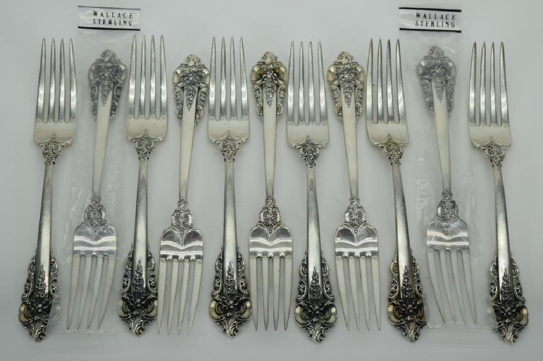 121PCS WALLACE GRANDE BAROQUE STERLING SILVER - 3