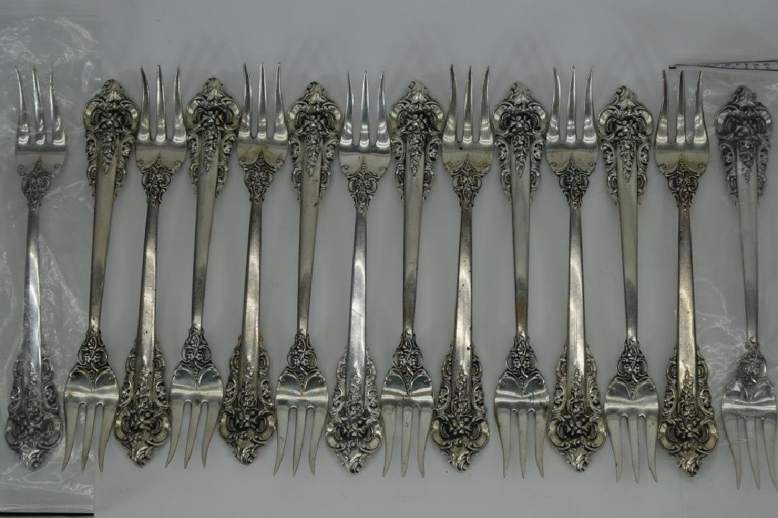 121PCS WALLACE GRANDE BAROQUE STERLING SILVER - 4