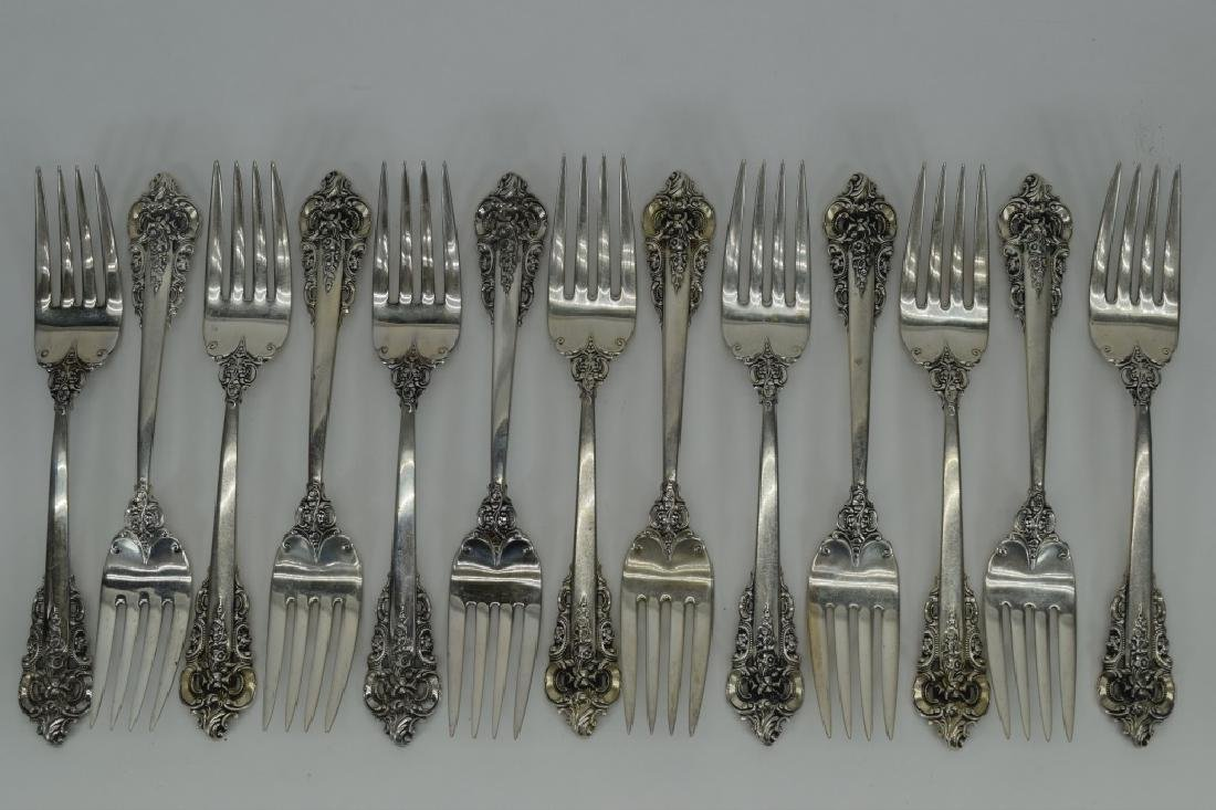 121PCS WALLACE GRANDE BAROQUE STERLING SILVER - 7