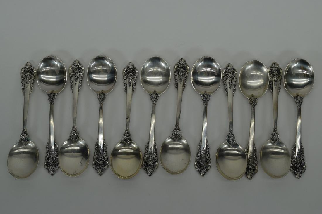 121PCS WALLACE GRANDE BAROQUE STERLING SILVER - 8