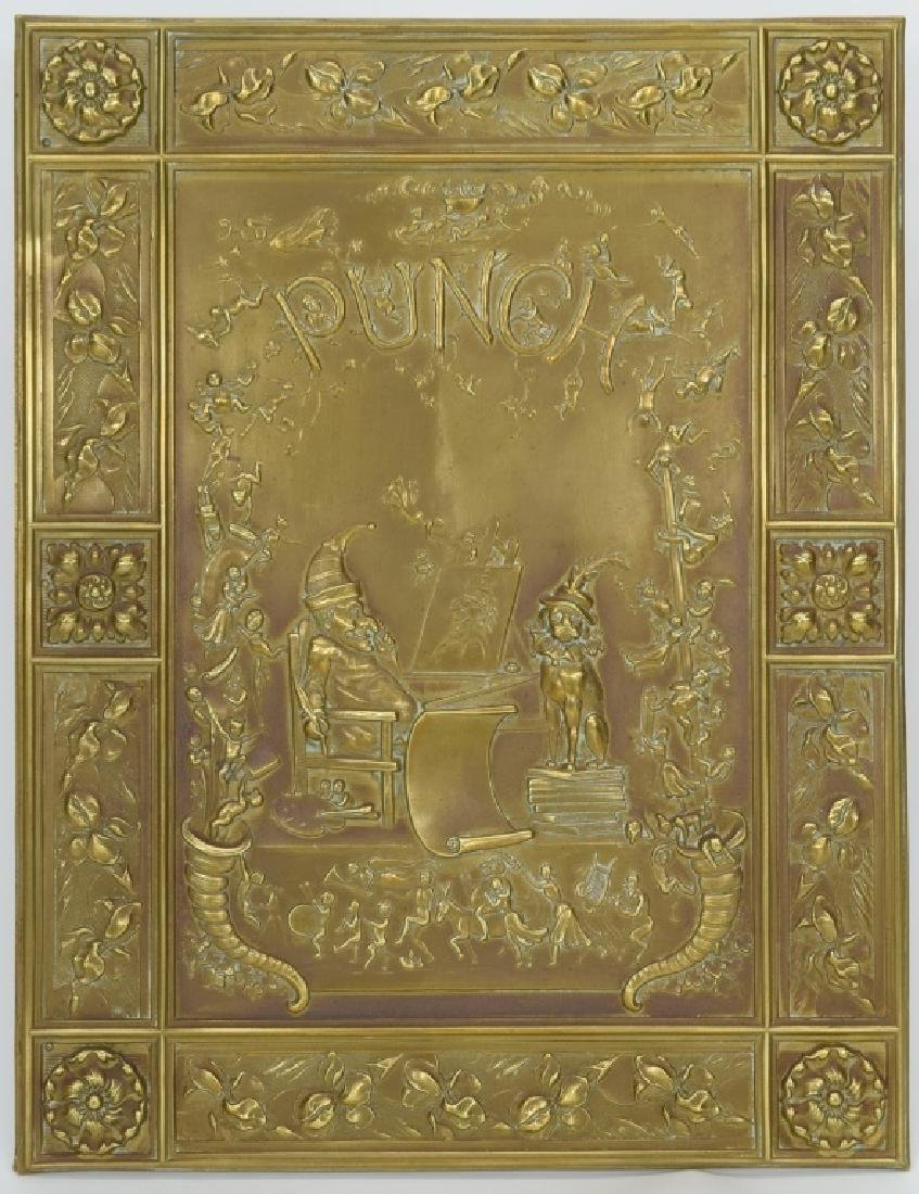 """ANTIQUE BOOK """"PUNCH & JUDY"""" BRASS FRONT BOX COVER"""