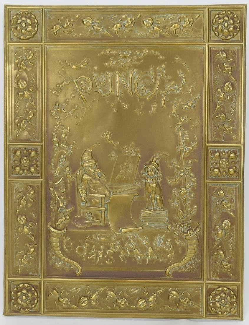 """ANTIQUE BOOK """"PUNCH & JUDY"""" BRASS FRONT BOX COVER - 2"""