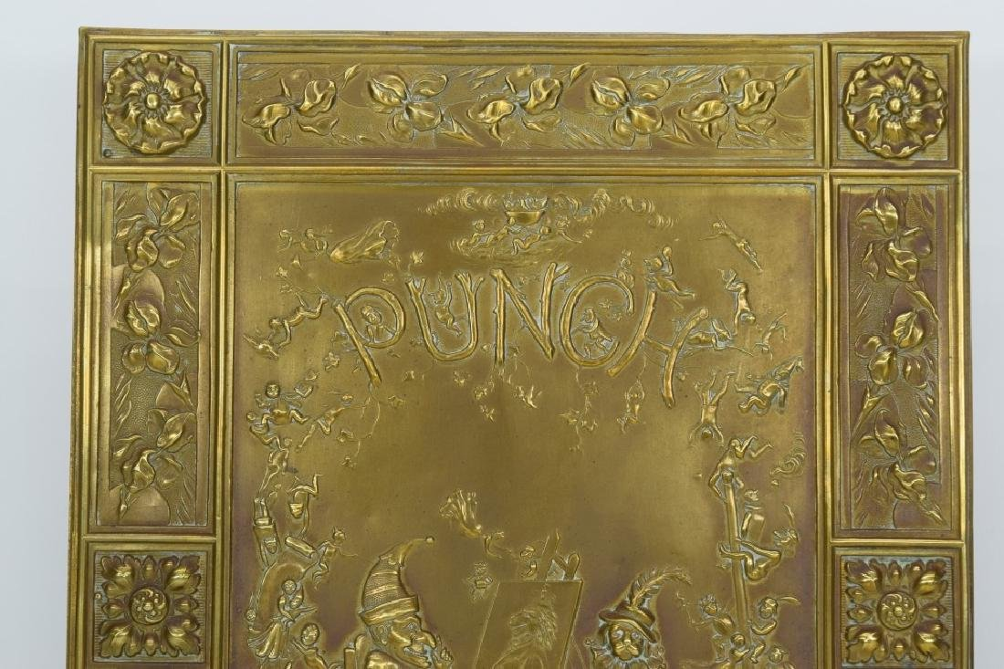 """ANTIQUE BOOK """"PUNCH & JUDY"""" BRASS FRONT BOX COVER - 3"""