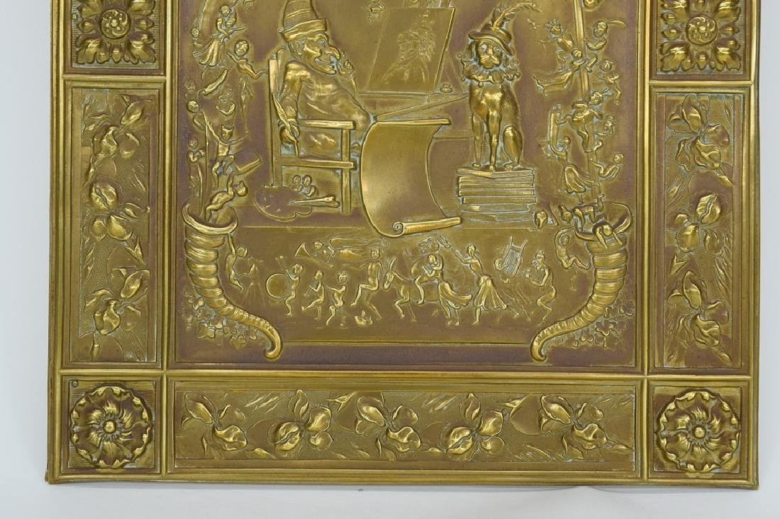"""ANTIQUE BOOK """"PUNCH & JUDY"""" BRASS FRONT BOX COVER - 5"""