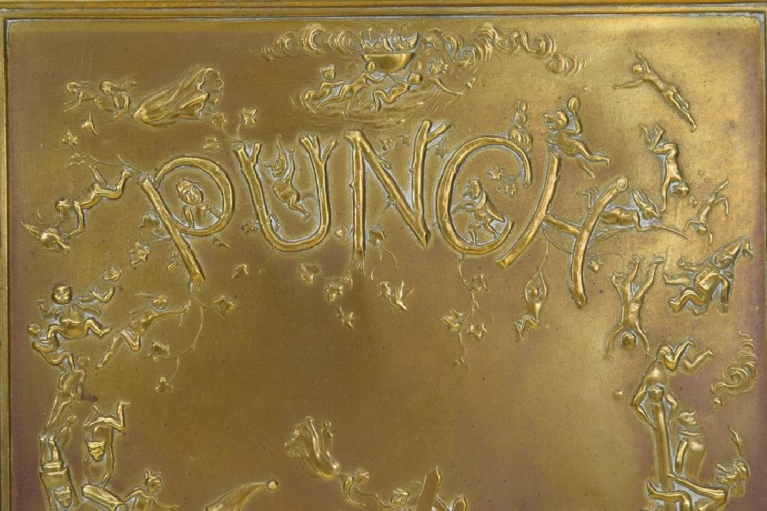 """ANTIQUE BOOK """"PUNCH & JUDY"""" BRASS FRONT BOX COVER - 6"""