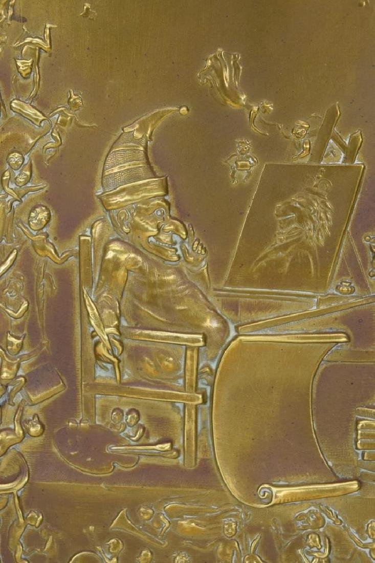 """ANTIQUE BOOK """"PUNCH & JUDY"""" BRASS FRONT BOX COVER - 7"""
