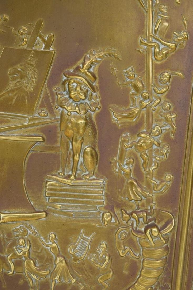 """ANTIQUE BOOK """"PUNCH & JUDY"""" BRASS FRONT BOX COVER - 8"""