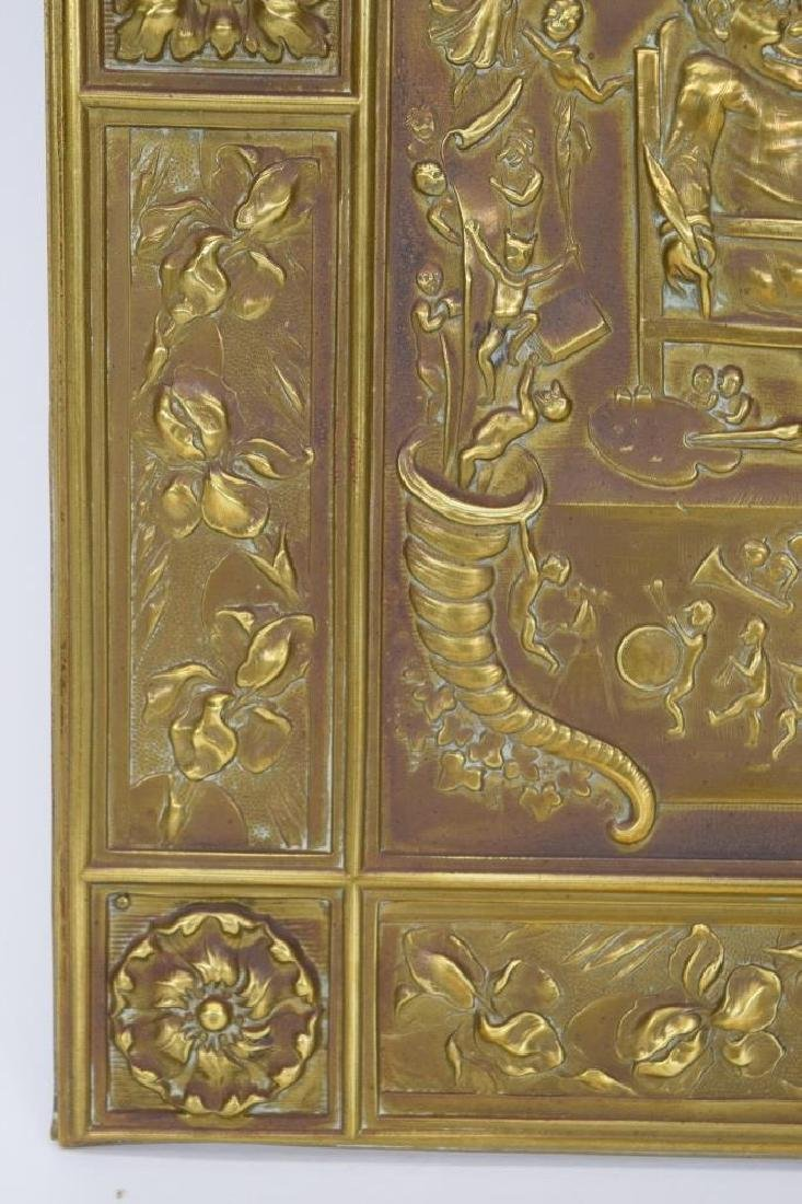 """ANTIQUE BOOK """"PUNCH & JUDY"""" BRASS FRONT BOX COVER - 9"""