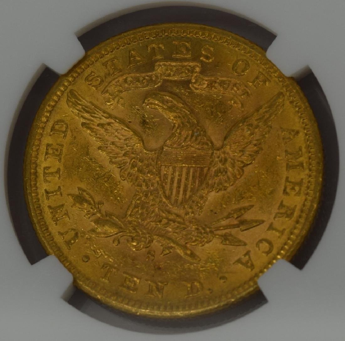 1886-S LIBERTY EAGLE $10 GOLD COIN NGC AU58 - 6