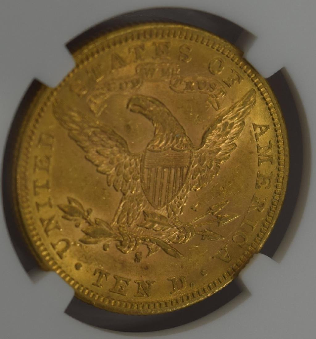 1886-S LIBERTY EAGLE $10 GOLD COIN NGC AU58 - 9
