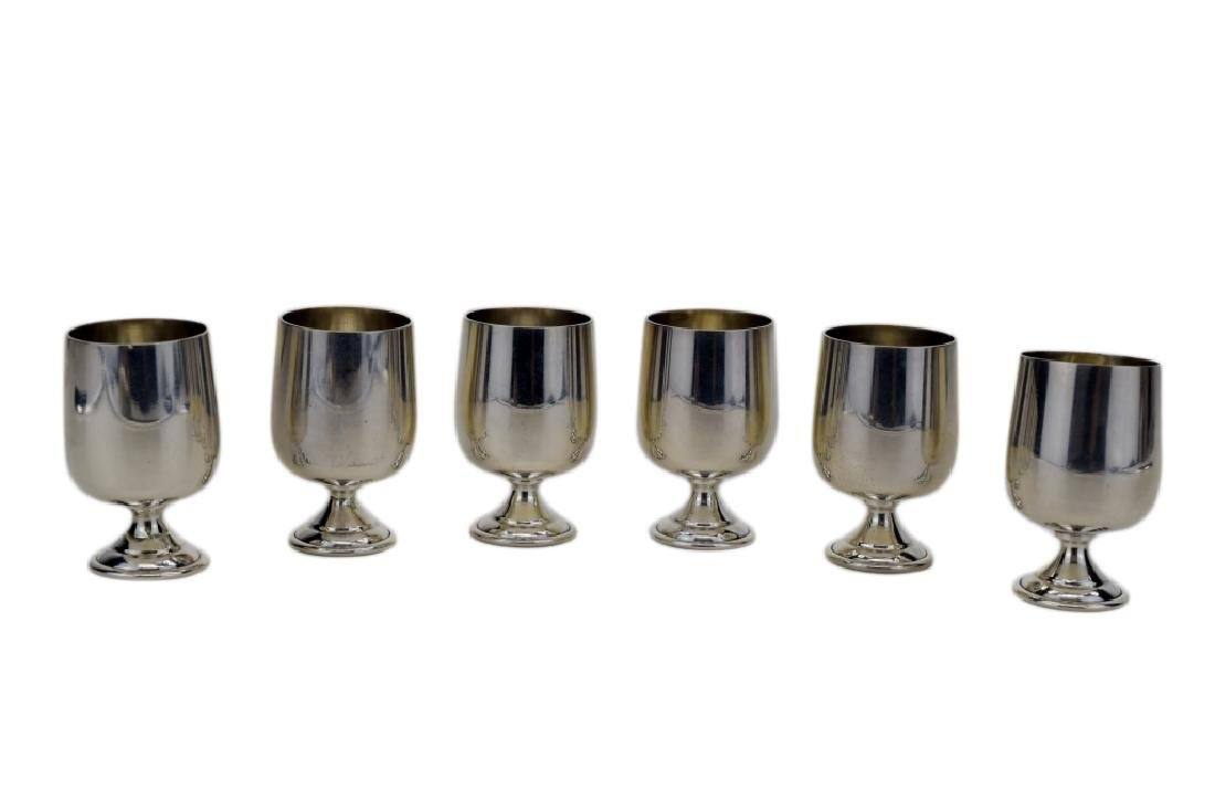6 STERLING SILVER CARTIER B&M CORDIAL MINI GOBLET - 2