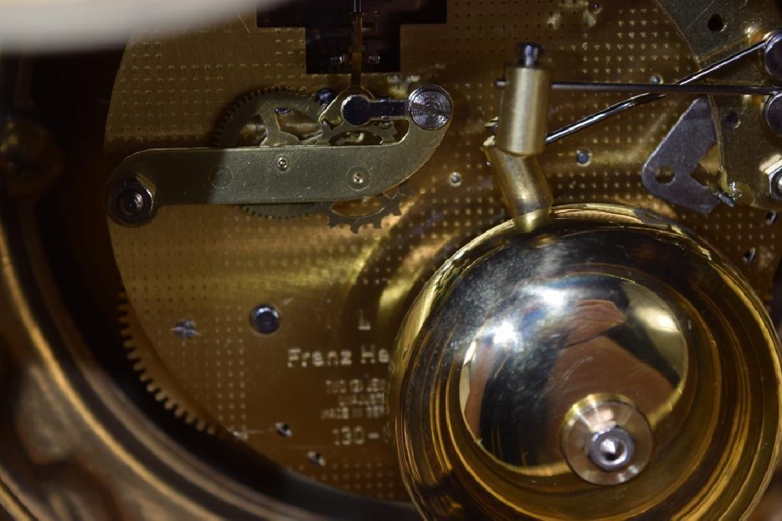 BRONZE CHERUB CLOCK CANDELABRA GARNITURE SET - 3