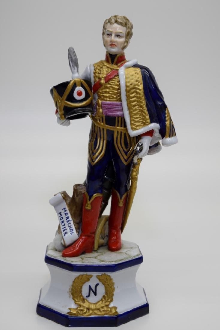 CONTINENTAL PORCELAIN SOLDIER MARSHAL MORTIER