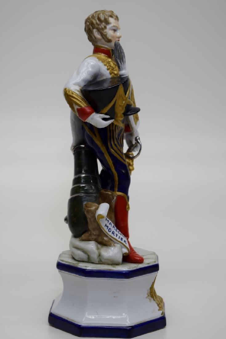 CONTINENTAL PORCELAIN SOLDIER MARSHAL MORTIER - 7