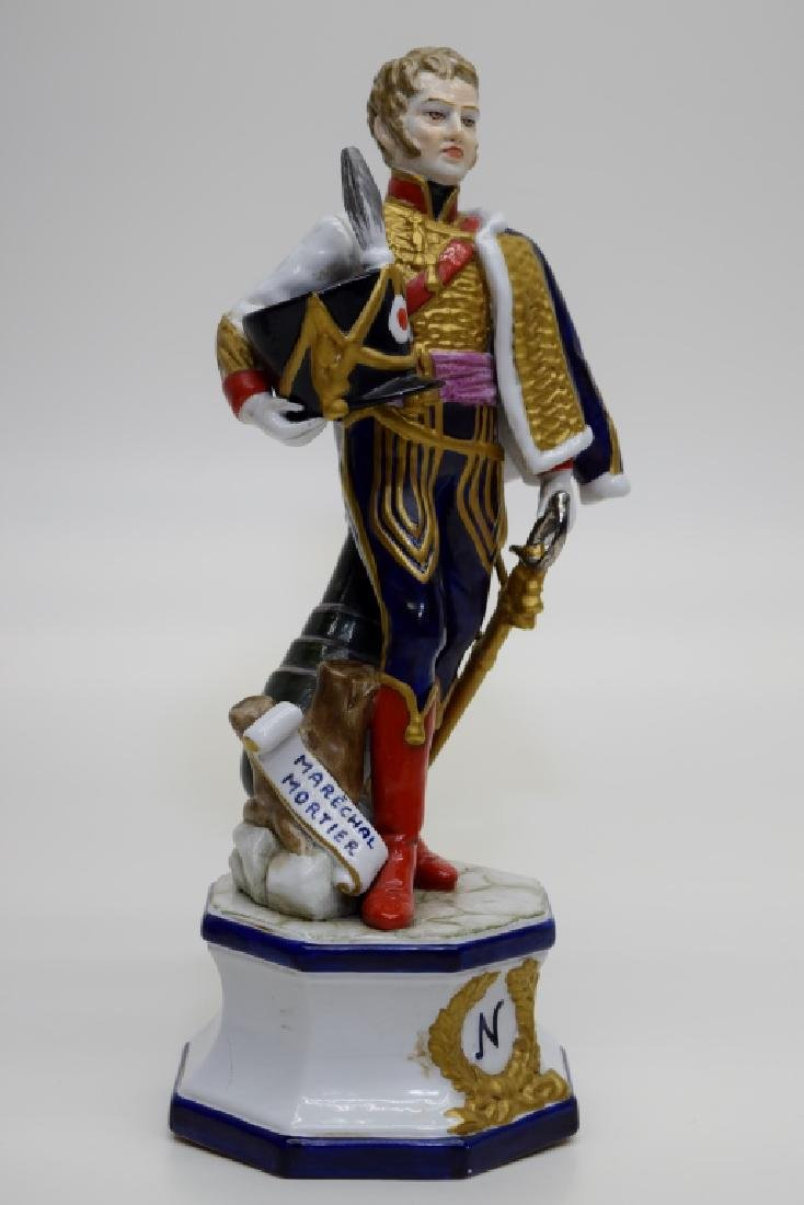 CONTINENTAL PORCELAIN SOLDIER MARSHAL MORTIER - 8