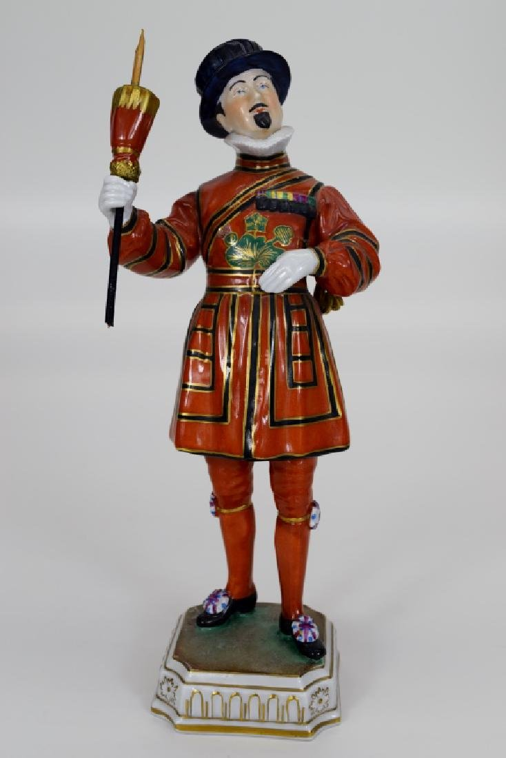 DRESDEN POTSCHAPPEL PORCELAIN YEOMAN OF THE GUARD