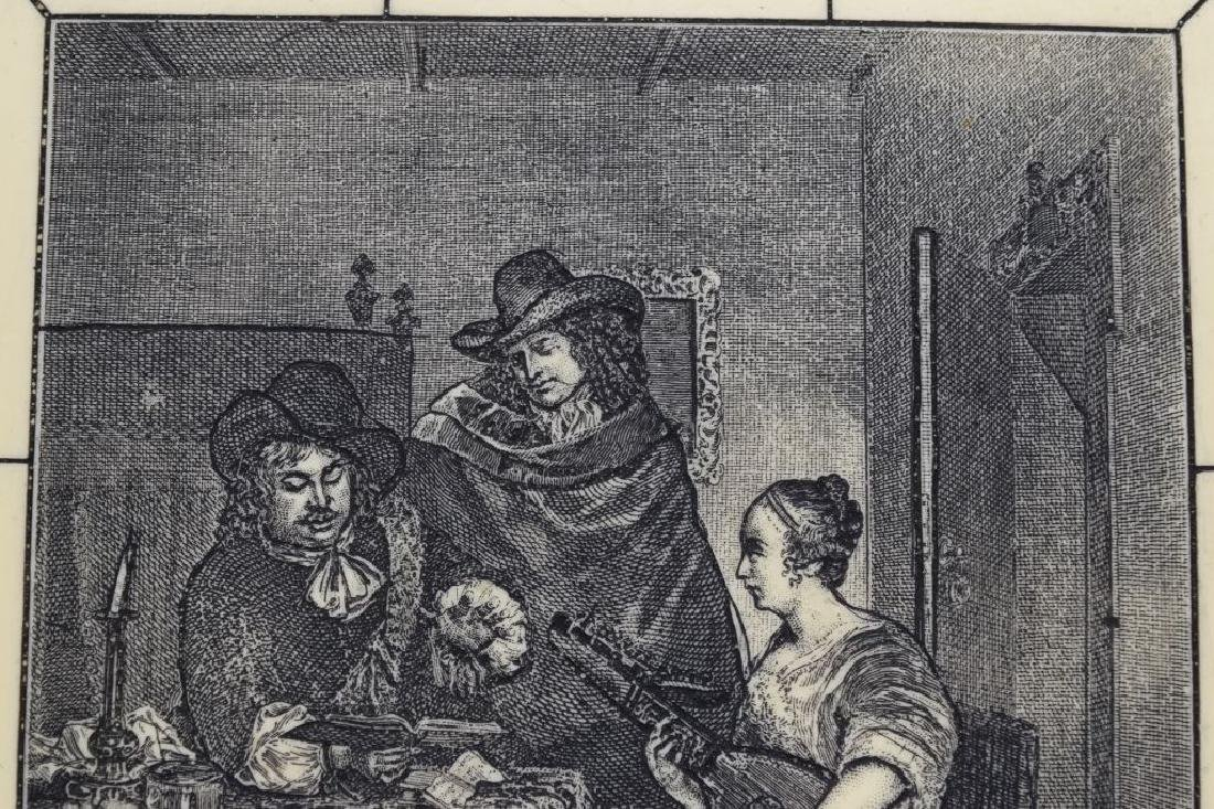FRAMED ETCHING ON CELLULOID G. TERBURG MUSICAL - 4