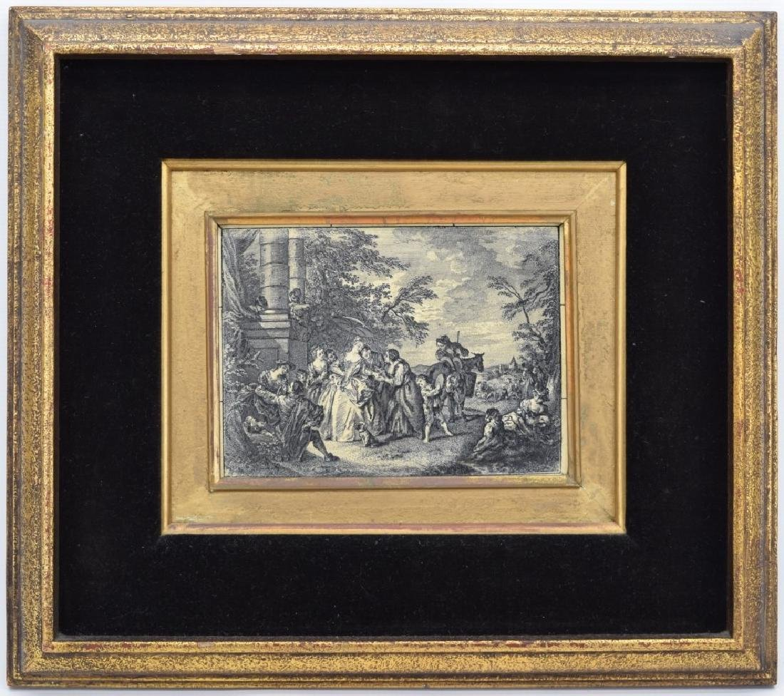 FRAMED ETCHING ON CELLULOID CONTINENTAL PAINTING - 3