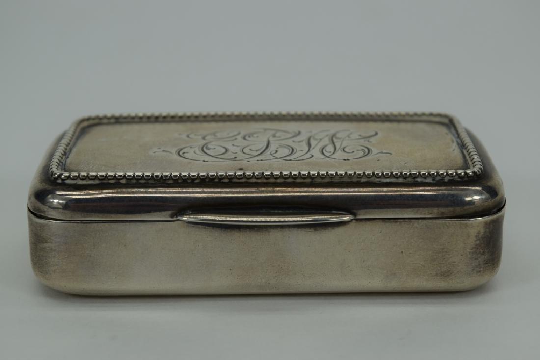 ANTIQUE GORHAM AMERICAN STERLING SILVER SNUFF BOX - 7