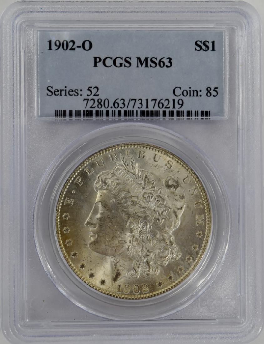 1902-O US $1 SILVER MORGAN DOLLAR COIN MS63