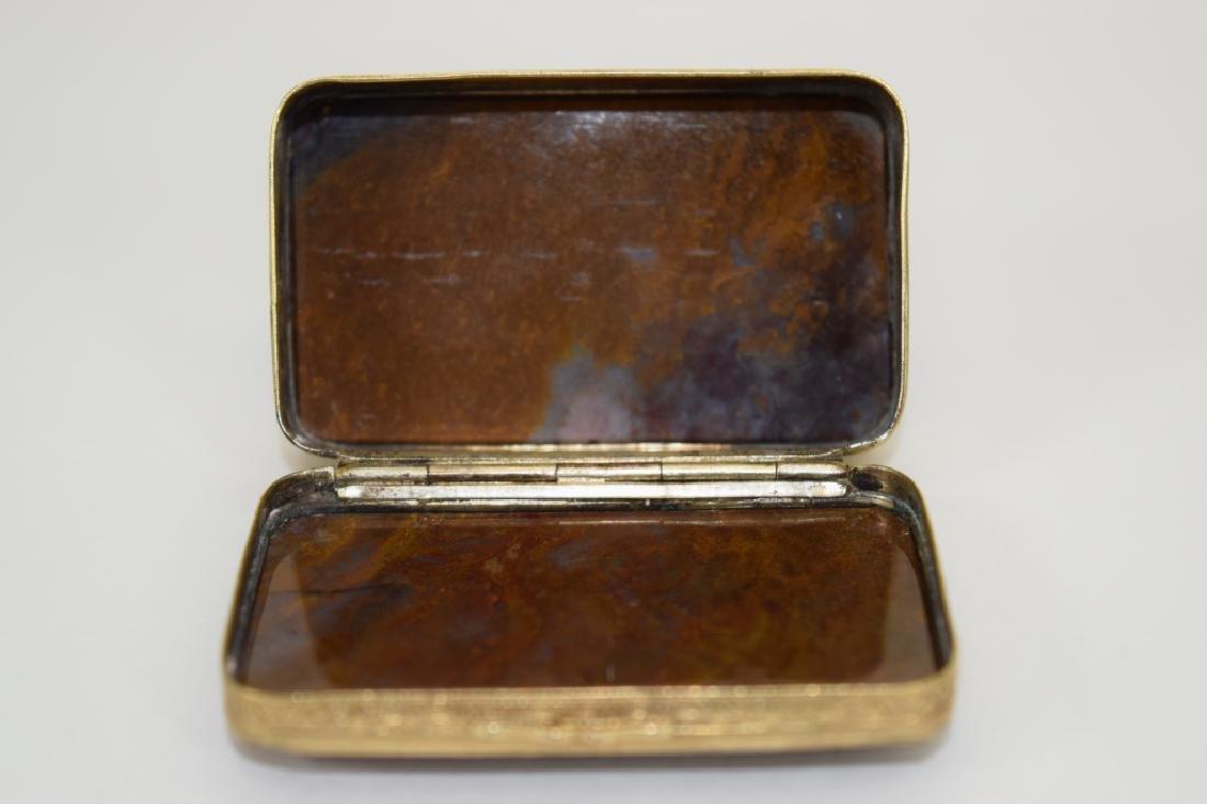 ANTIQUE GOLDEN MOSS AGATE VICTORIAN SNUFF BOX - 10