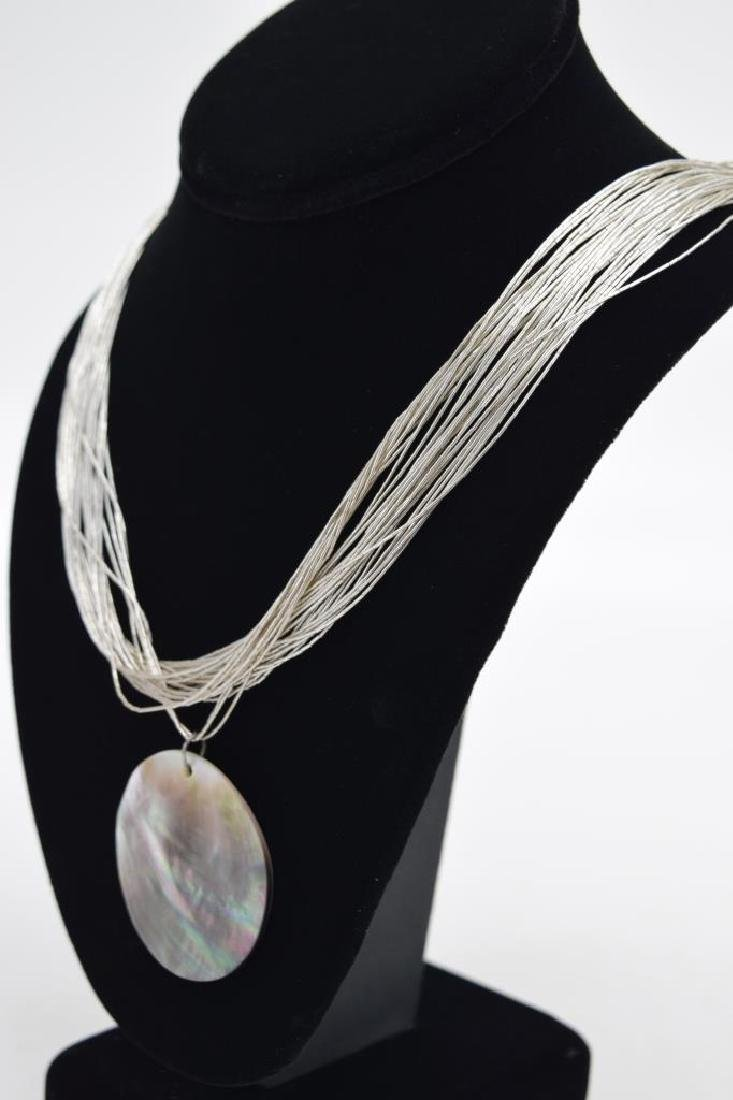 STERLING SILVER NECKLACE ABALONE PENDANT - 5