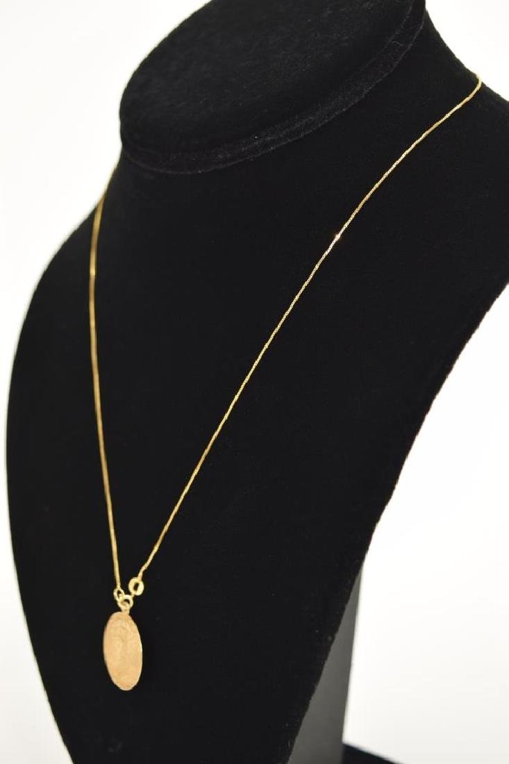 14K GOLD TAURUS PENDANT & 14K GOLD NECKLACE - 10