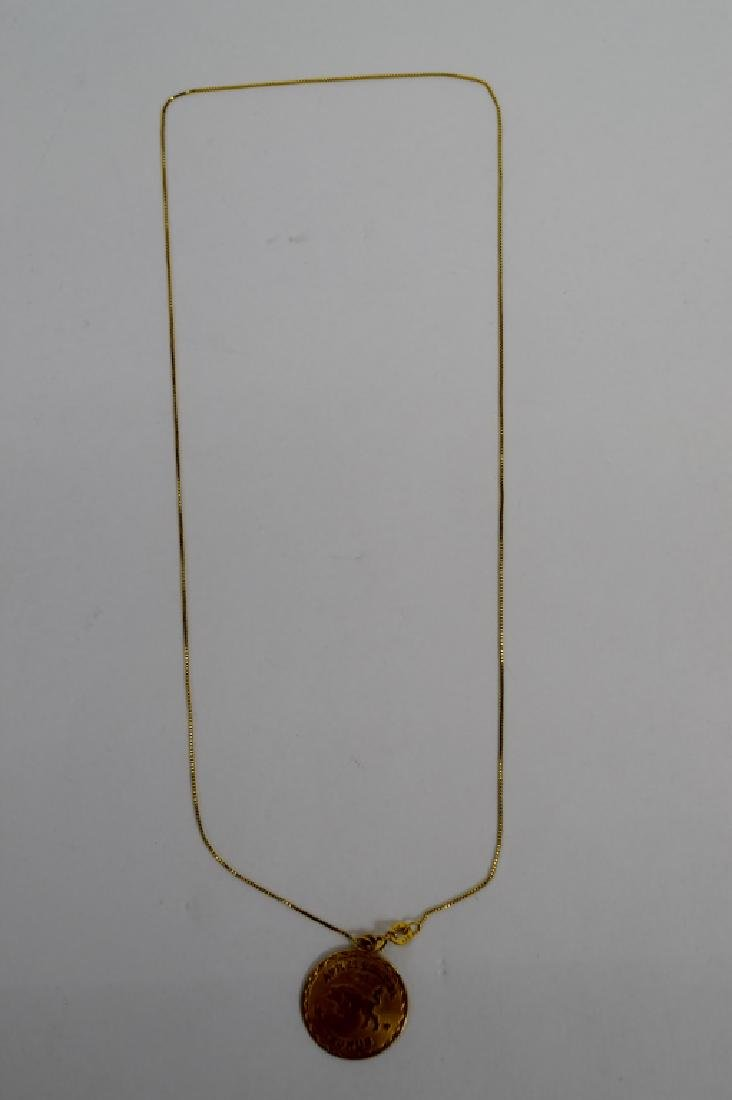 14K GOLD TAURUS PENDANT & 14K GOLD NECKLACE - 4