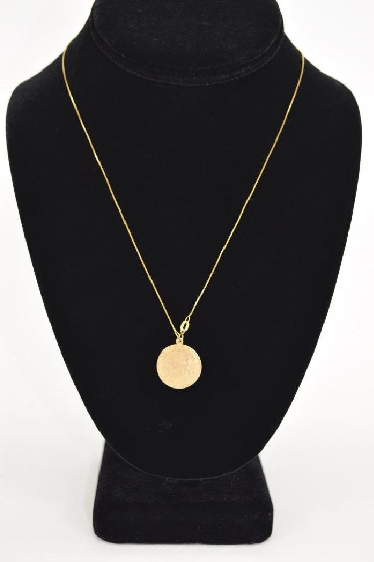 14K GOLD TAURUS PENDANT & 14K GOLD NECKLACE - 8