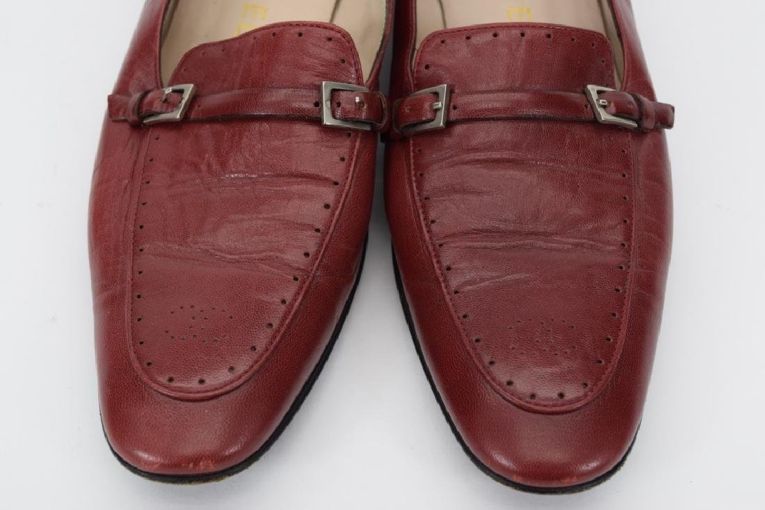 PAIR CHANEL RED LEATHER SHOES 37-1/2 - 6