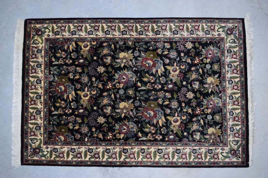 HAND WOVEN ORIENTAL FLORAL RUG 4X6