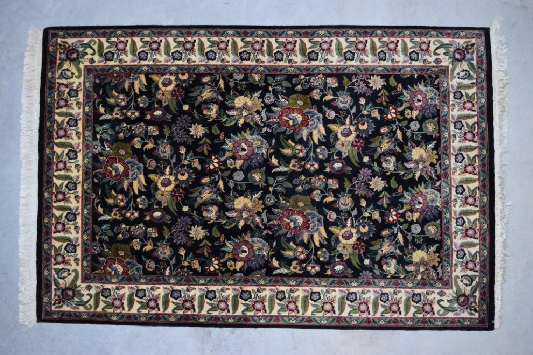 HAND WOVEN ORIENTAL FLORAL RUG 4X6 - 2