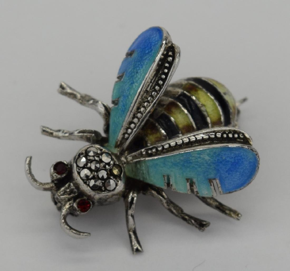 ALICE CAVINESS STERLING SILVER ENAMEL BEE BROOCH