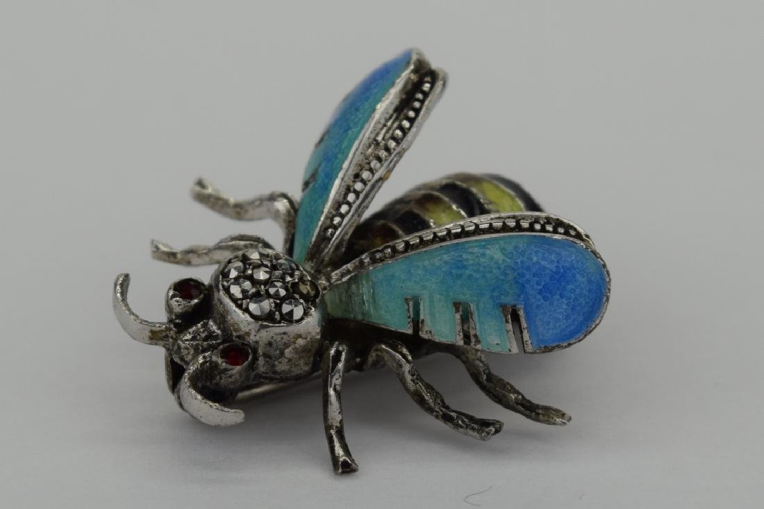 ALICE CAVINESS STERLING SILVER ENAMEL BEE BROOCH - 2