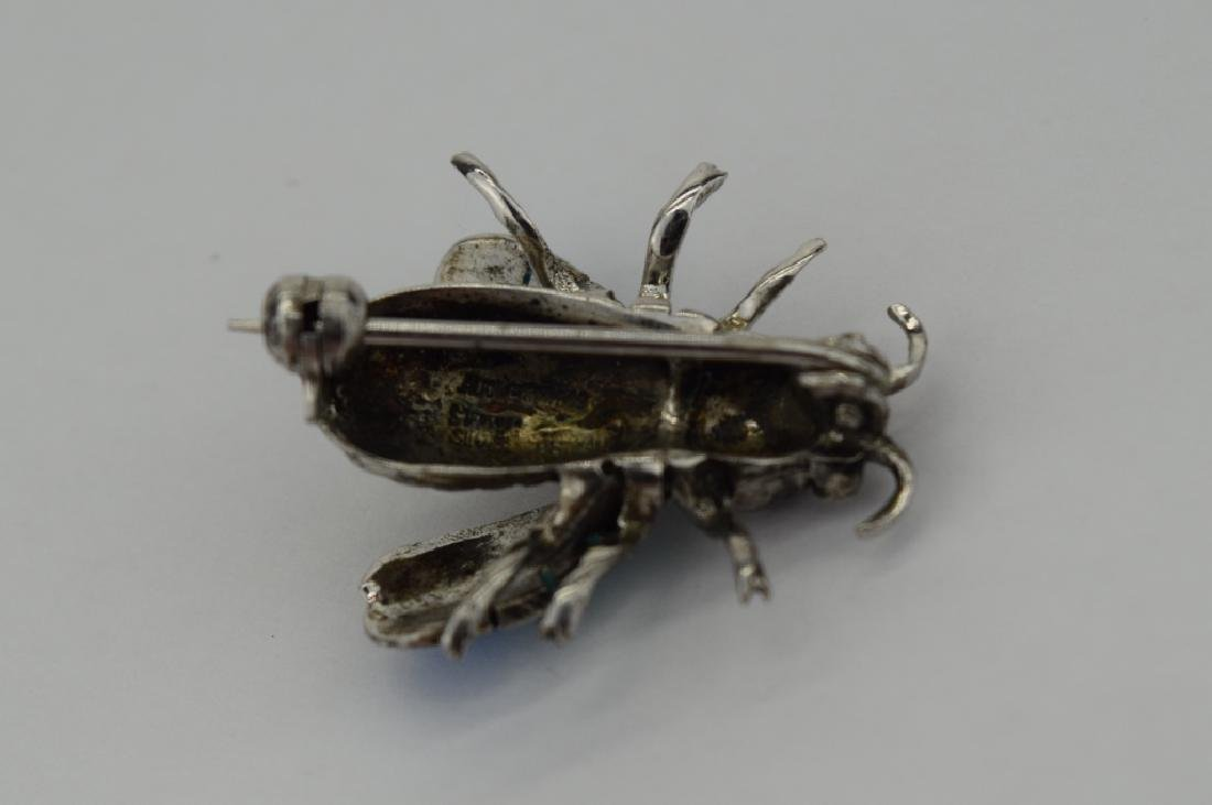 ALICE CAVINESS STERLING SILVER ENAMEL BEE BROOCH - 8