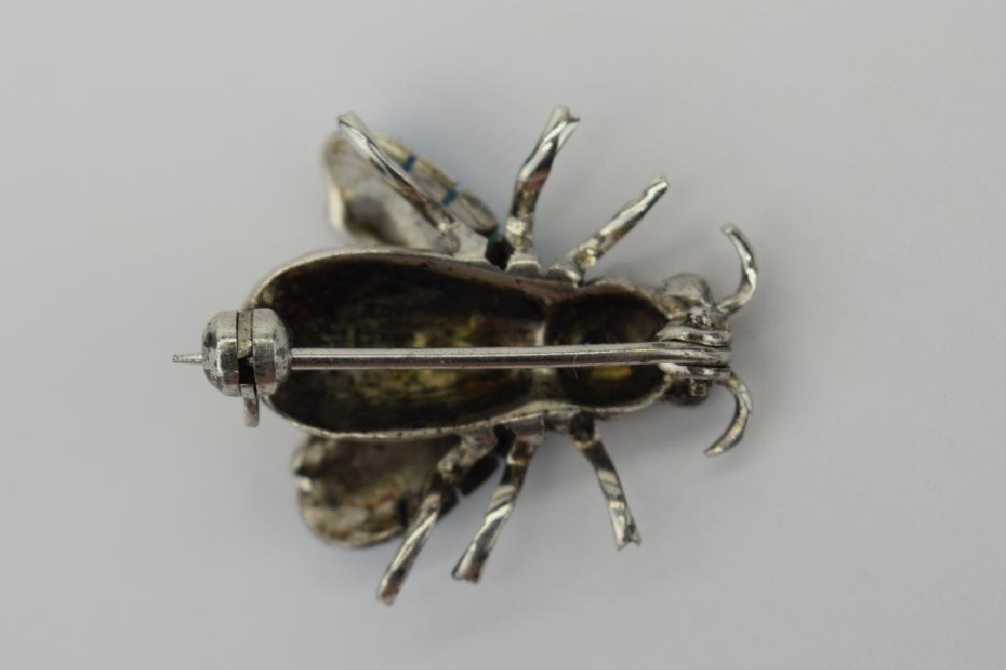 ALICE CAVINESS STERLING SILVER ENAMEL BEE BROOCH - 9