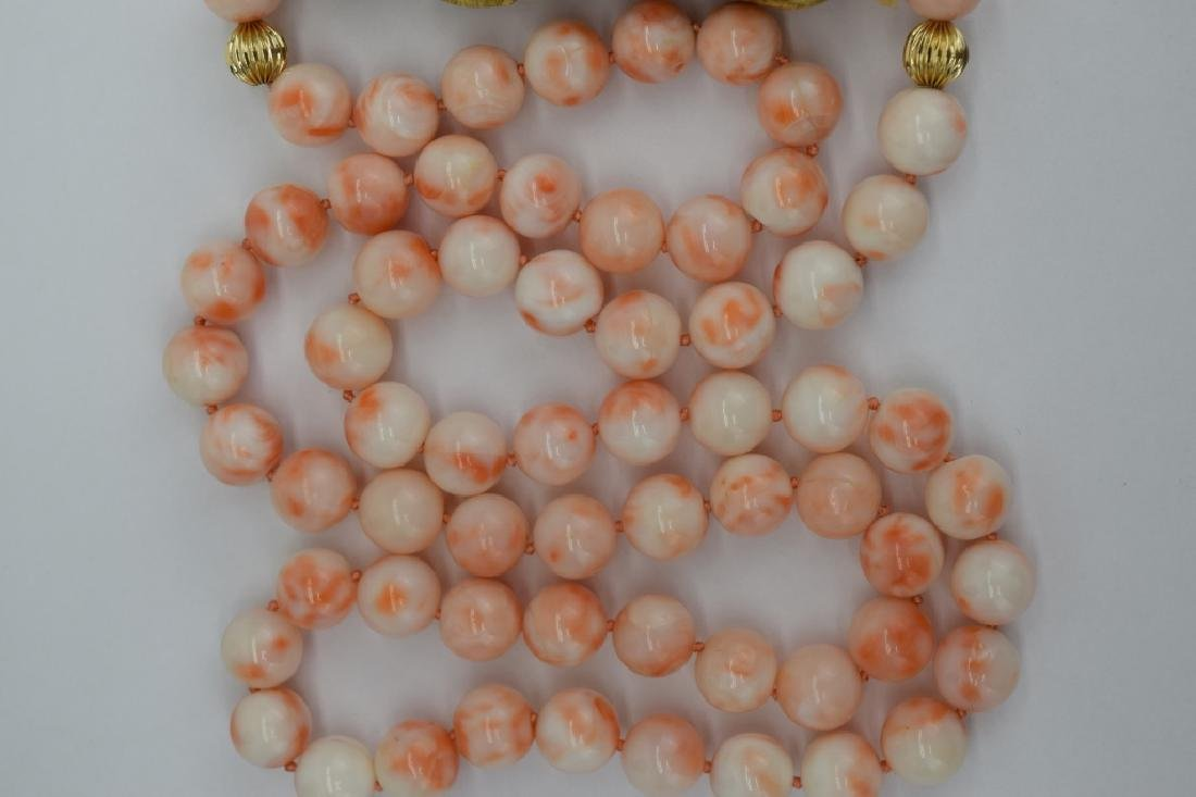 ANTIQUE CHINESE CORAL NECKLACE & EARRINGS SUITE - 10