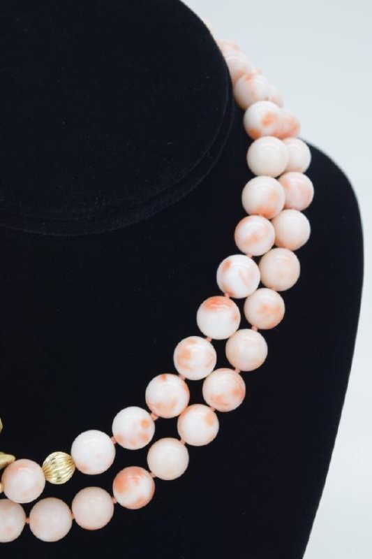 ANTIQUE CHINESE CORAL NECKLACE & EARRINGS SUITE - 4